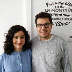 Fundadores de Disease Maps, Pablo Belmonte y Elisa Ainoza