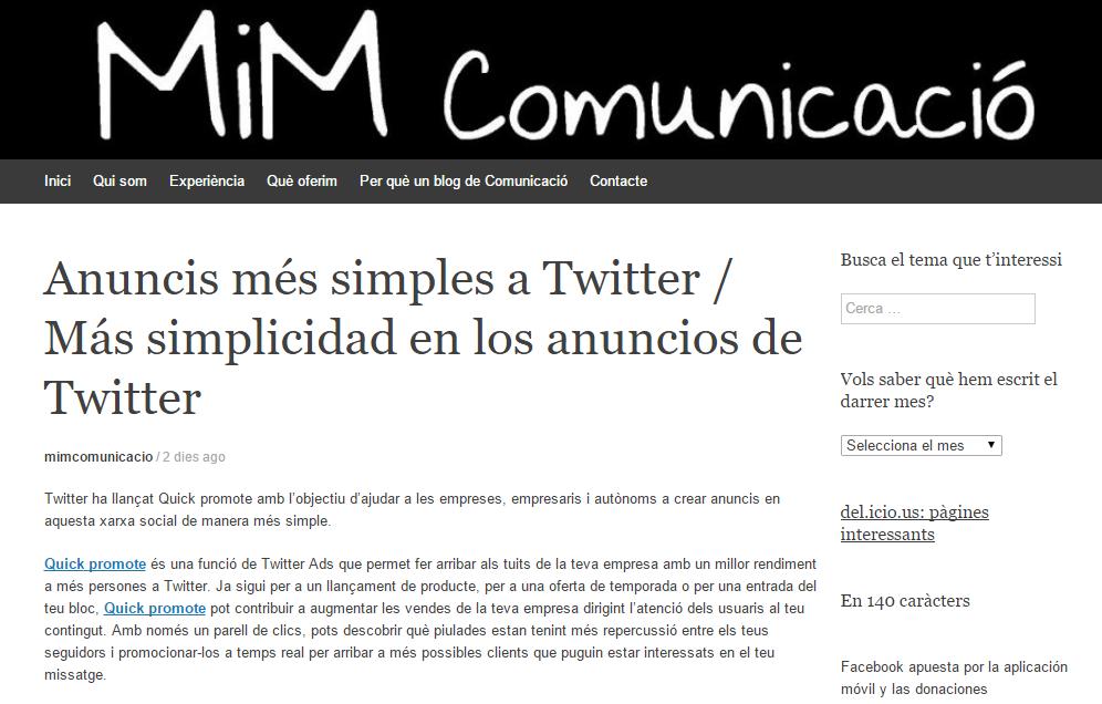 Blog MiM Comunicació
