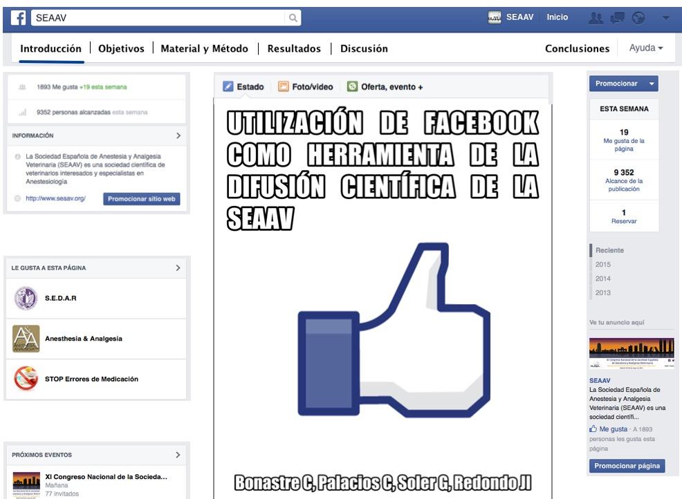 uso de facebook para la difusión científica