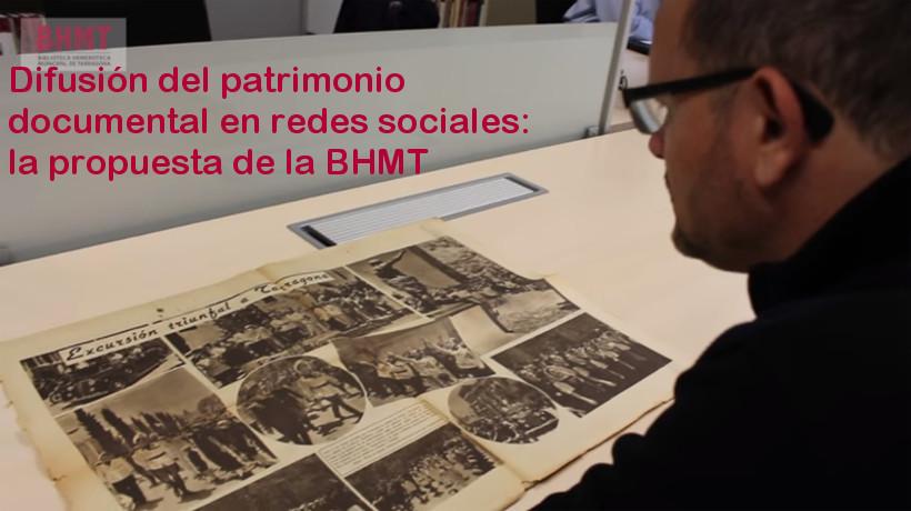 Difusion del patrimonio documental en redes sociales