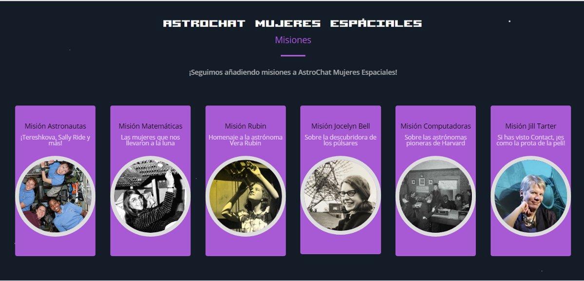 Astrochat Mujeres Espaciales