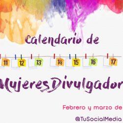 Calendario de #MujeresDivulgadoras