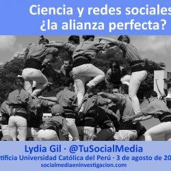 Ciencia y redes sociales alianza
